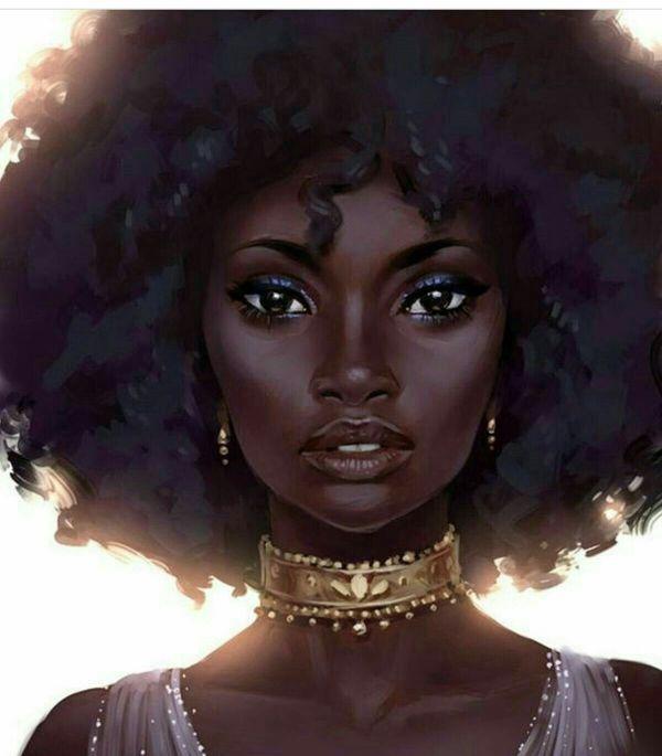 Beautiful Black Art Women And Afro