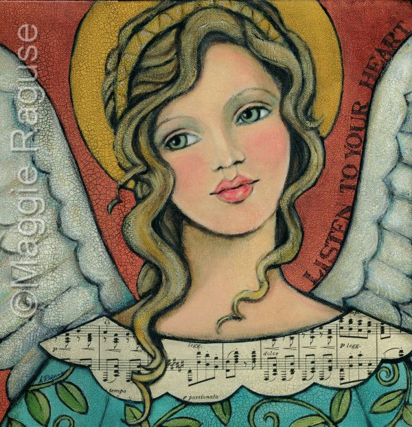 Angel Paintings Ideas Of Angels Heart And Flying