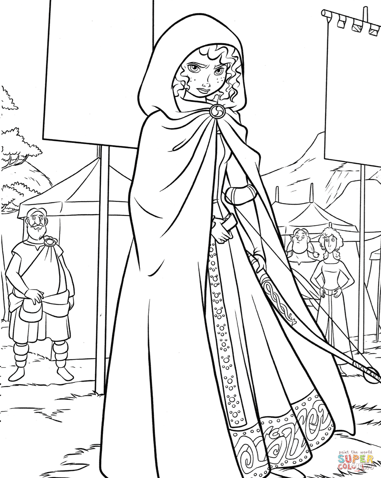 Merida On A Highland Games Coloring Pages 1222×1531