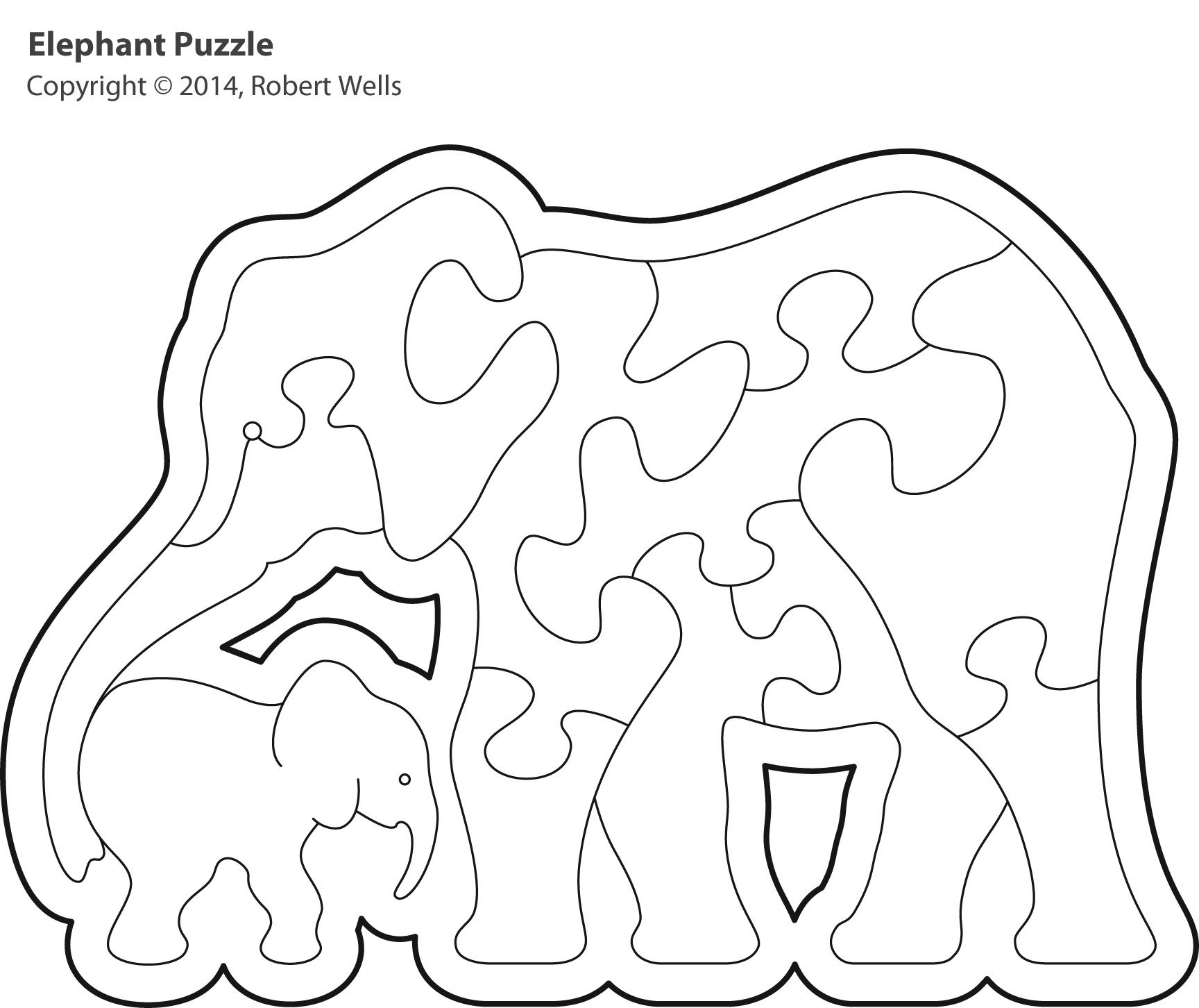 Dachshund Wood Puzzle Template