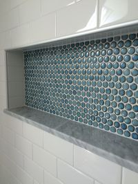 Penny tile shower nice | Penny tile, Custom shower and ...