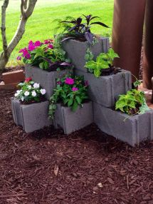 Cinder Block Planter Gardening Planters