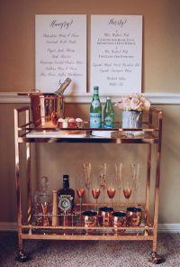 Rose Gold Bar Cart / Copper Bar Cart / Bar Cart Styling ...