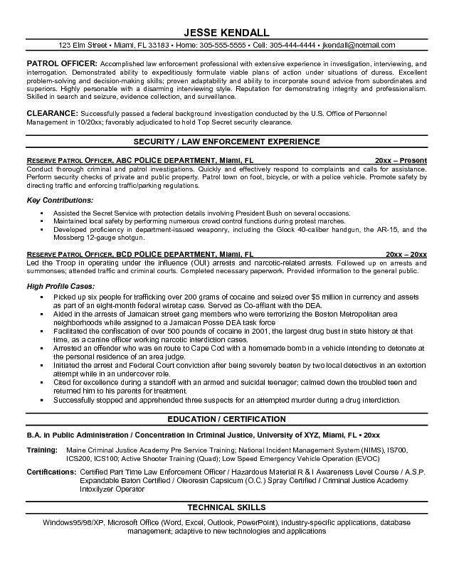 Security Officer Resume Objective Jobresumesample Com 709