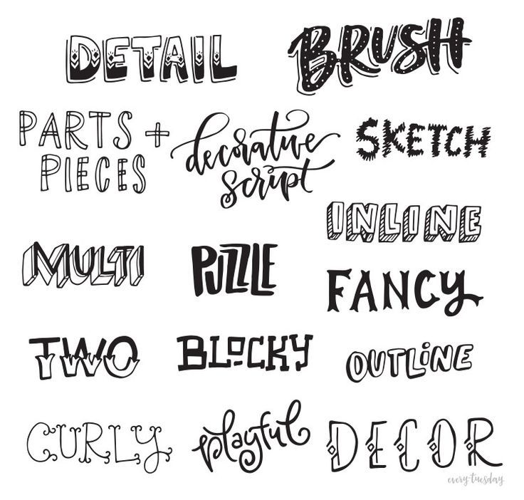 17 Best ideas about Hand Lettering Styles on Pinterest