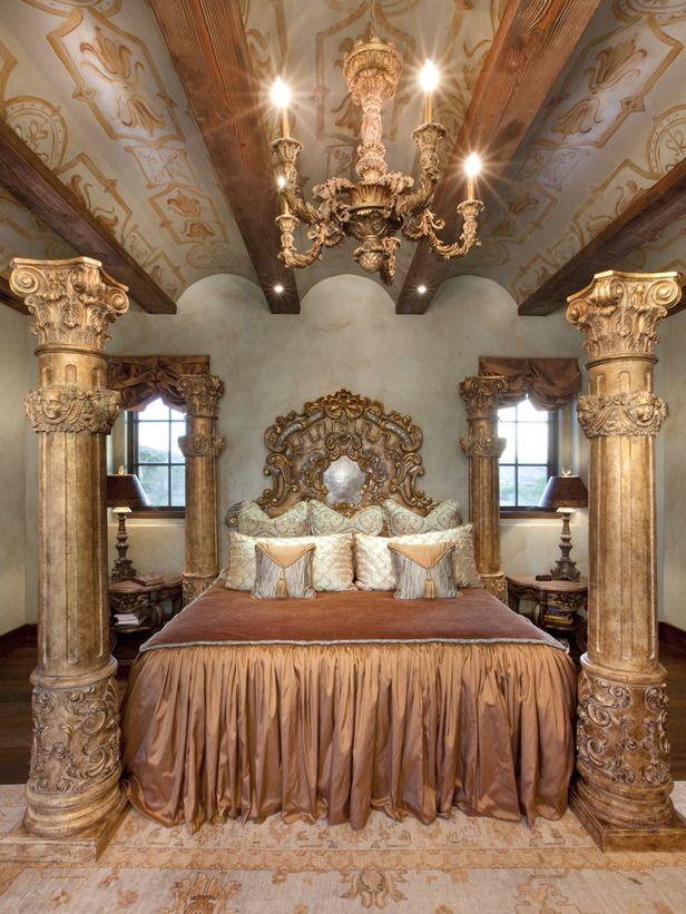 Old World Bedroom on Pinterest  Tuscan Bedroom Royal