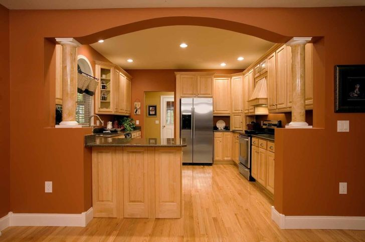 Kitchen Cabinets: Design Of Kitchen Entrance. Half Walls With Wallpaper Hd Design Of Kitchen Entrance For Pc Pics