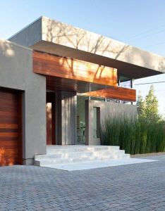 Wood  stone modern exterior of home in menlo park california designed by dumican mosey architects photo mariko reed also wow entryway for the pinterest homes grasses rh