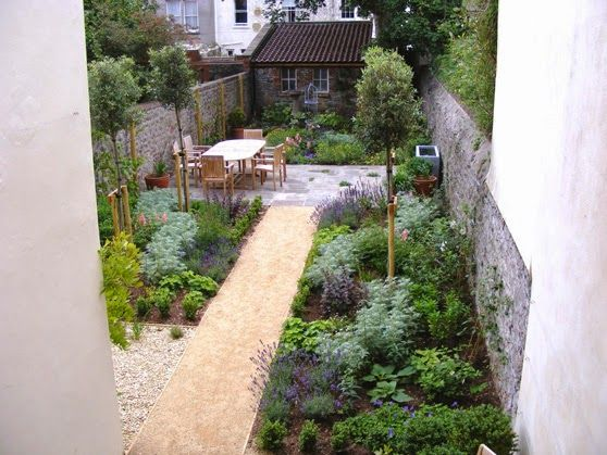Garden Design Ideas Long Narrow Gardens Photo 4 Garden Ideas