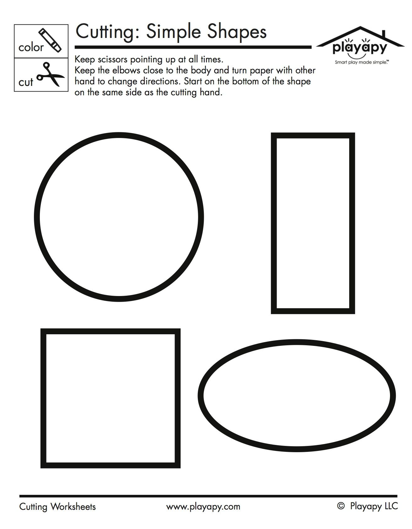 This Simple Worksheet Is Great For Practicing Coloring And