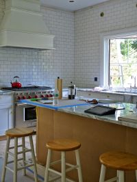 White Subway Tile (HD 3 x 6) No spacers, Delorean Gray