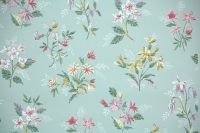 1950's Vintage Wallpaper - Floral Wallpaper with Pink and ...