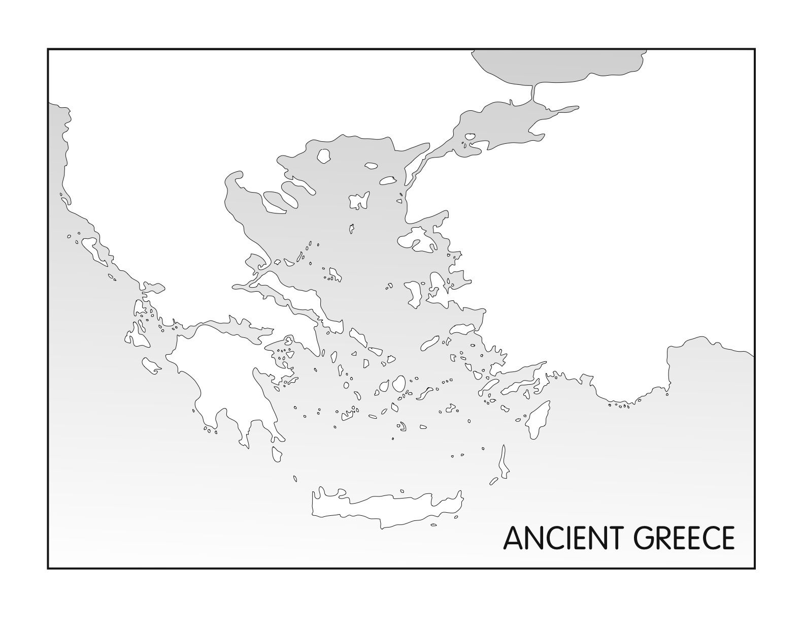 Ancient Greece Printable Blank Map