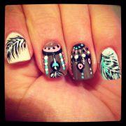 indian nail design beautify