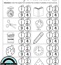 Syllables Worksheets First Grade   Printable Worksheets and Activities for  Teachers [ 1500 x 1125 Pixel ]