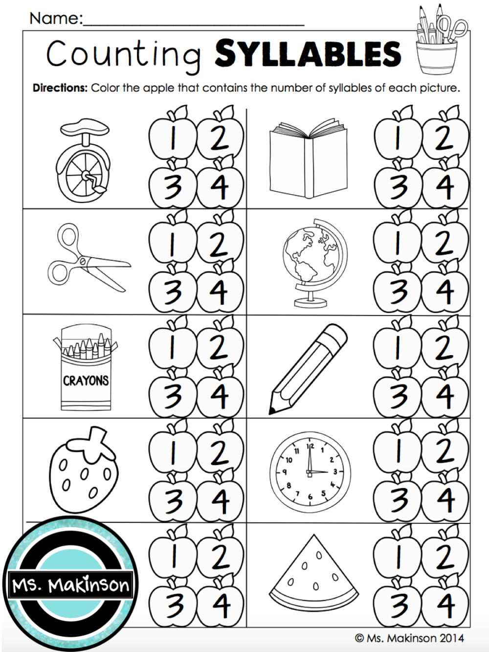 medium resolution of Syllables Worksheets First Grade   Printable Worksheets and Activities for  Teachers