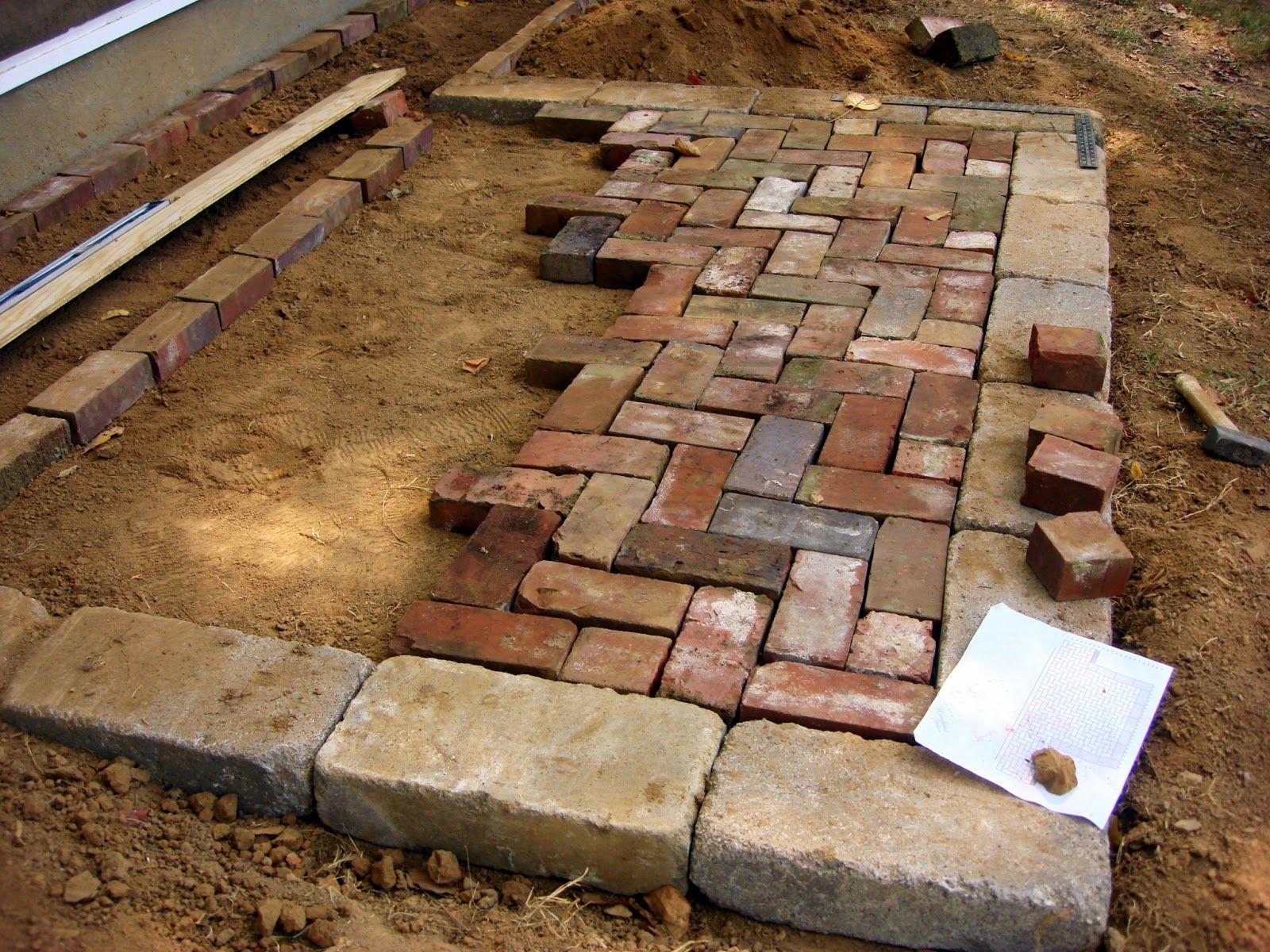 Images of 90 degree herringbone pattern paver patio