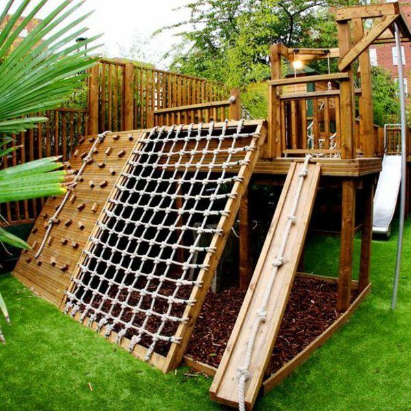 Super Tolle Kletterwand Im Garten Gartenideen Pinterest Garten