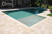 rectangle pools with spa | Rectangular Pool & Spa with ...