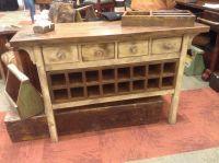 Antique White Wine Cabinet. With repurposed black walnut ...