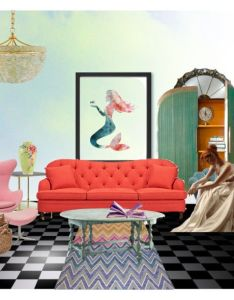 Mermaids tale by dreamcatcher liked on polyvore featuring interior interiors also rh nz pinterest