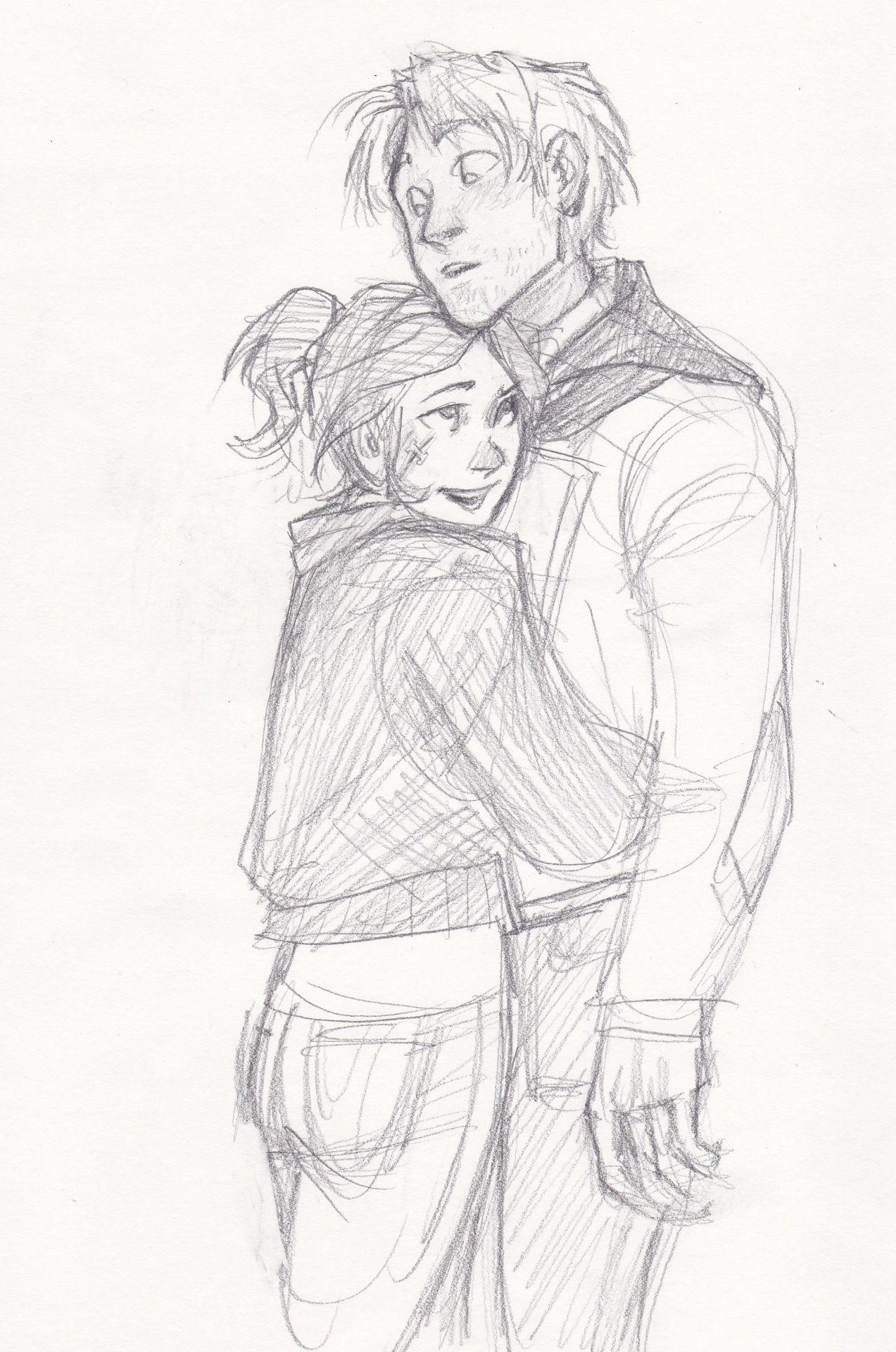Tumblr Couple Hugging Drawing Sofia And Alex Draw Burdge