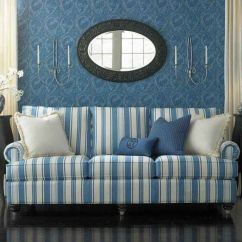 Navy Blue Striped Sofa Clearance Bed And White | Pinterest ...