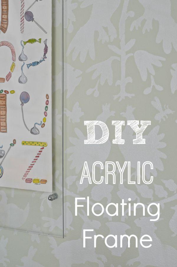 Diy Floating Acrylic Frame Frames Acrylics And