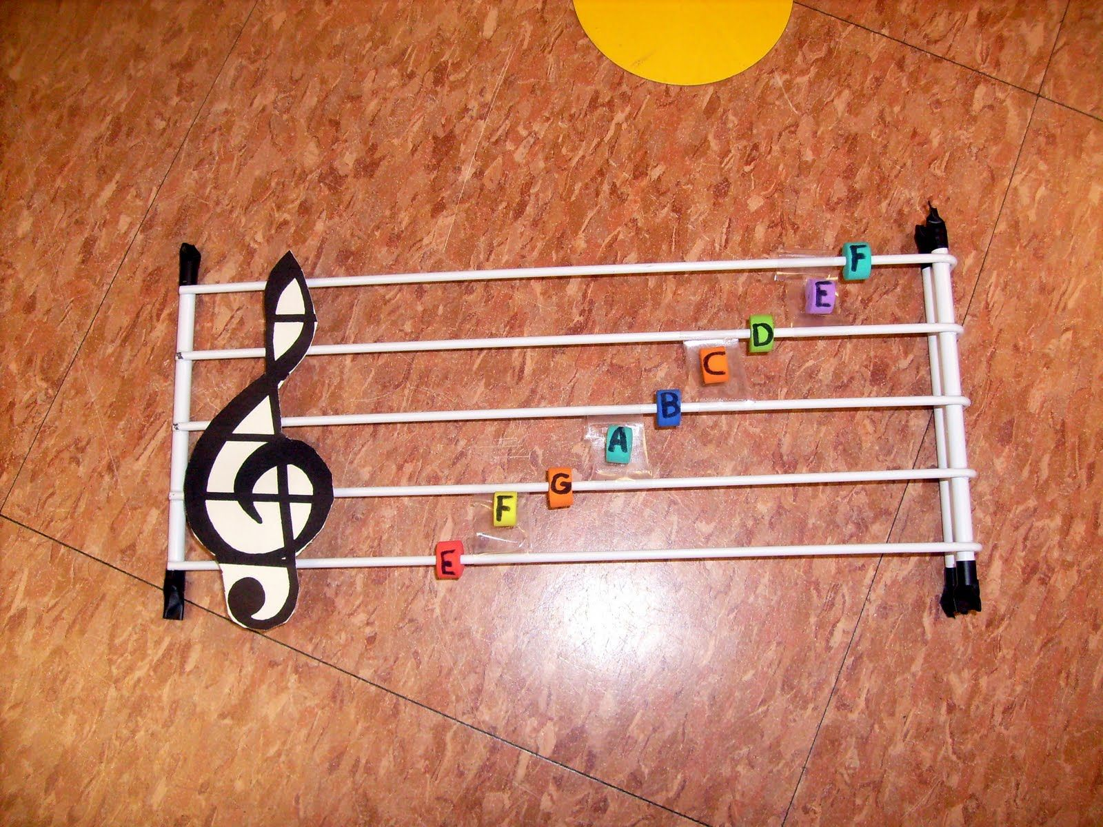 Add Braille To This Tactile Music Staff For Early Music