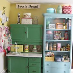 Kitchen Furniture Storage Raymour And Flanigan Sets Scenic Green Blue Vintage Cabinet Also
