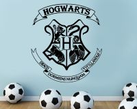 Harry potter #hogwarts coat of arms cut vinyl wall art #