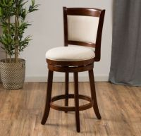 "Modern 24"" Inch Fabric Swivel Back Counter Height Stool ..."
