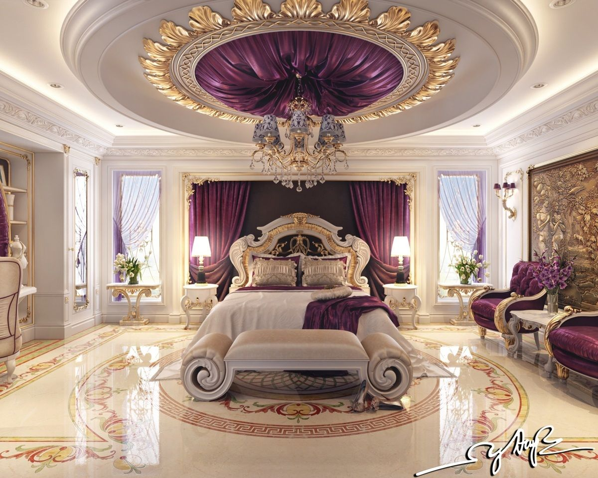This bedroom tends toward what most people might envision