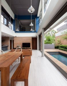 Two houses at nichada is  private home located in bangkok thailand completed it was designed by alkhemist architects also connected to each other for brothers with different rh pinterest