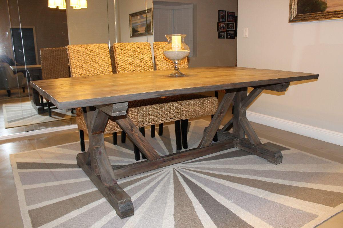 Xbase farmhouse table  Farm Table Designs  Pinterest