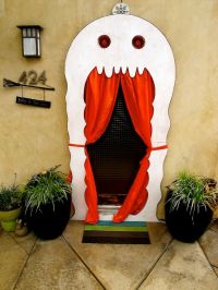 halloween door decorations | 8243f Ghost door decor ...