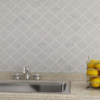 Bianco Carrara Marble Arabesque Mosaic Tile