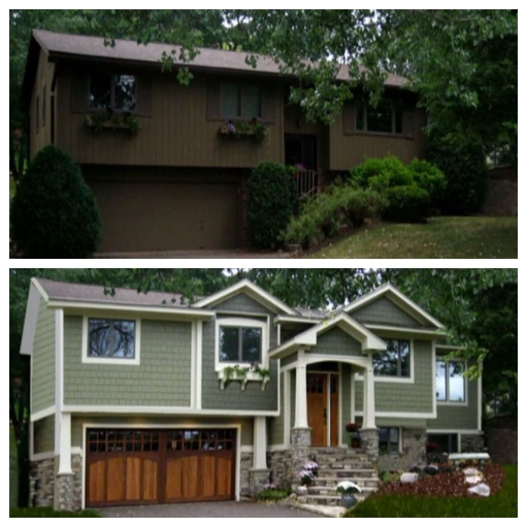 S Split Level Goes Craftsman Nice Reno Idea For Some Major Curb Appeal