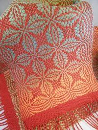 Orange Peel Overshot Woven Scarf - Weaving Draft (Pattern ...