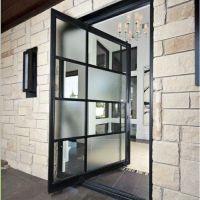 Front door ideas house entrance stone slabs facade metal ...