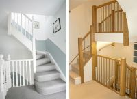 Left Econoloft staircase, Right Tony Pestana Builders