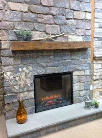 Quarry Cut Natural Stone Fireplace Surround, Barn Beam ...