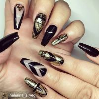 Beautifully done black and gold nails | Nails Nails Nails ...