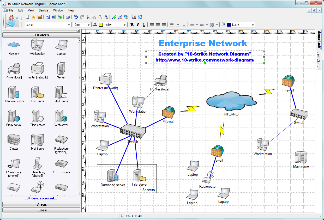 Network Topology Diagram Network Topology Diagram Software Free
