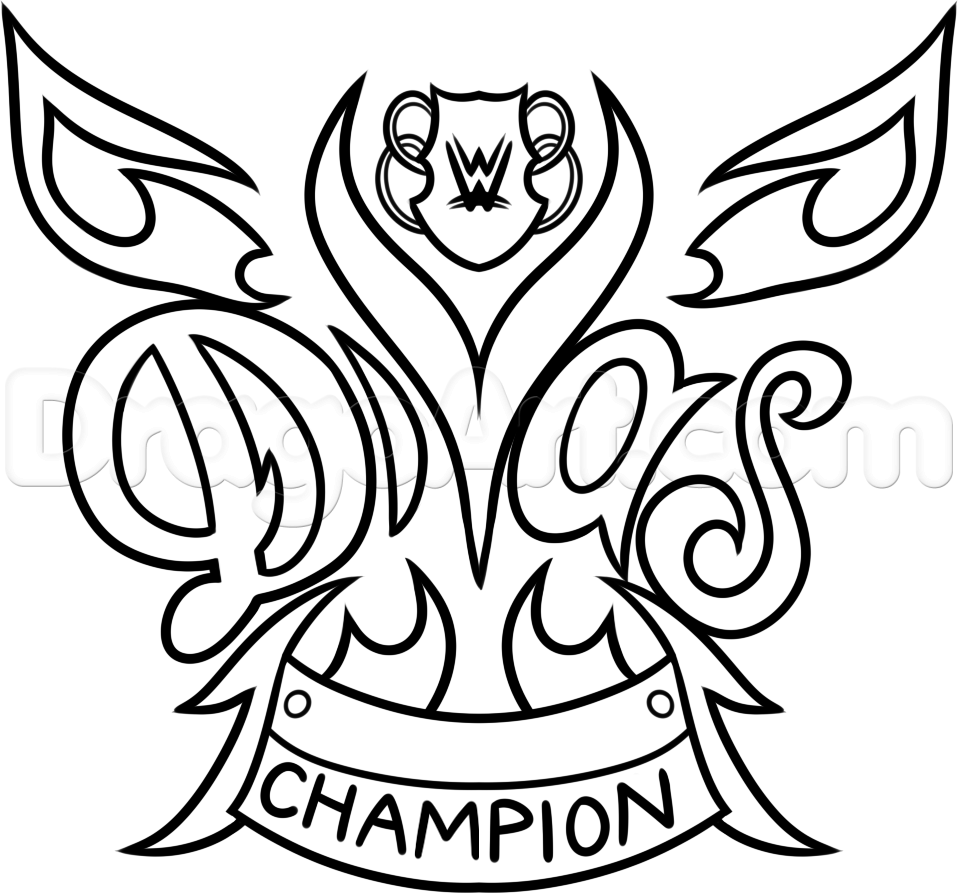 How to Draw the WWE Diva Championship Belt, Step by Step