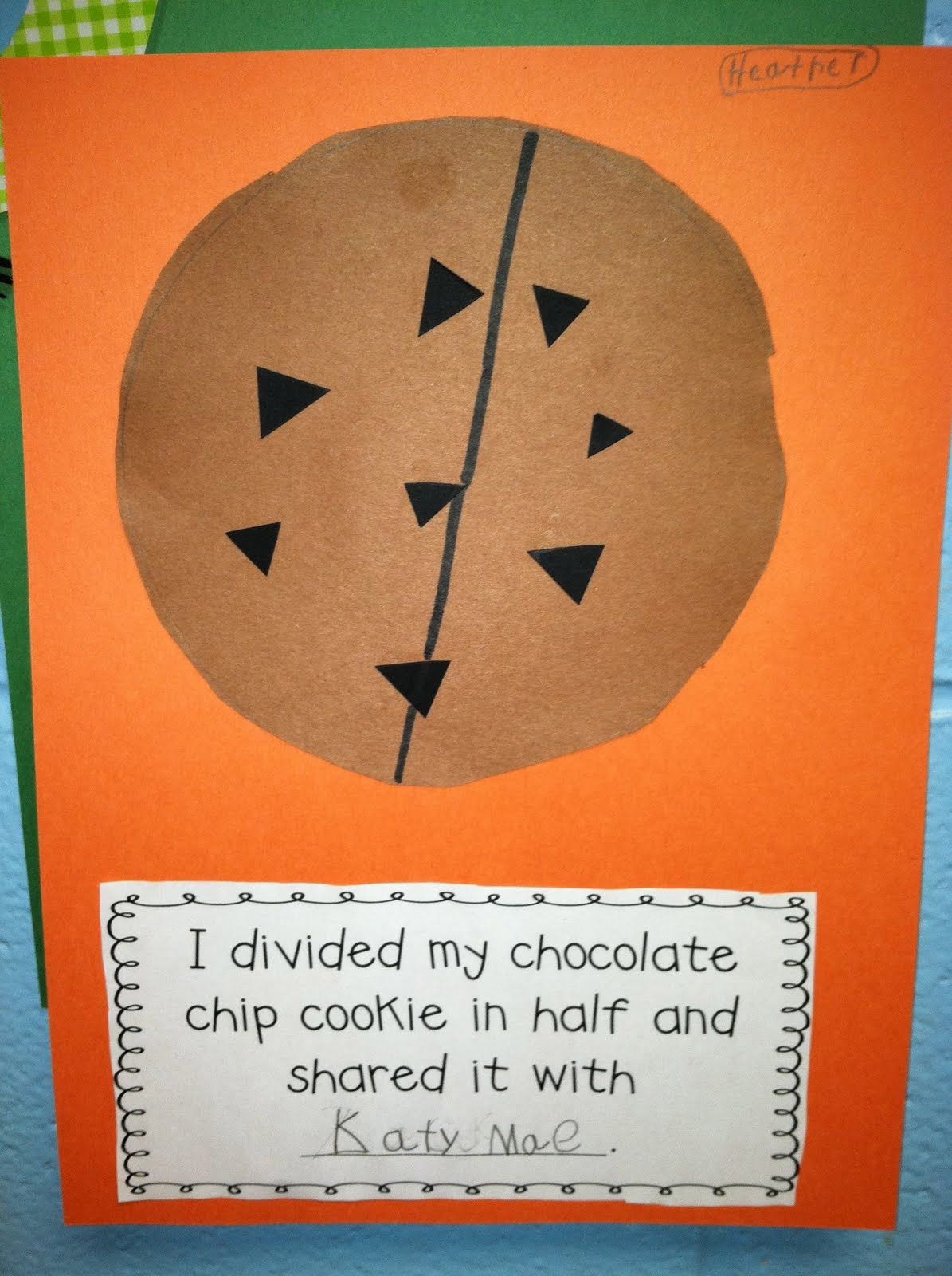 Teaching Fractions I Divided My Chocolate Chip Cookie In Half And Shared It With