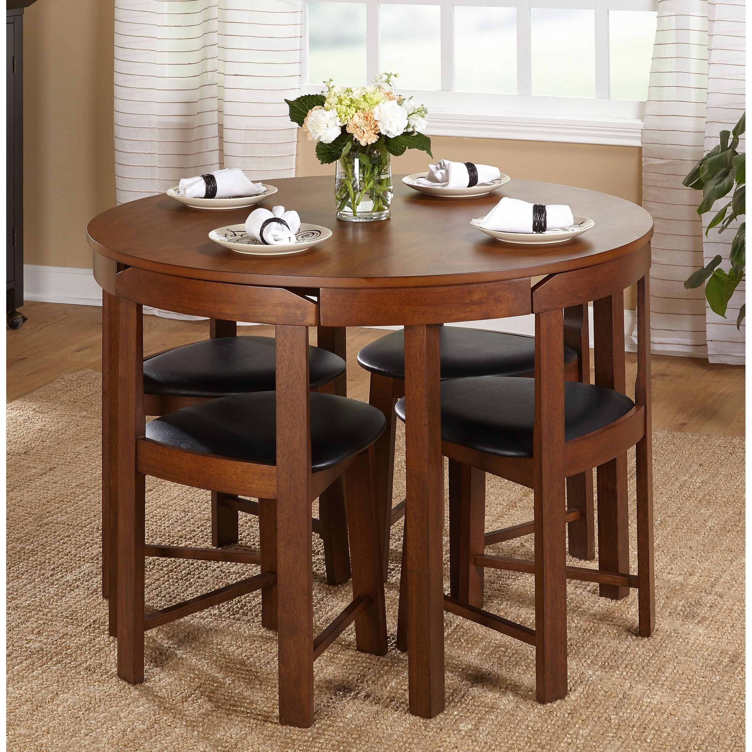 Simple Living 5piece Tobey Compact Dining Set Grey