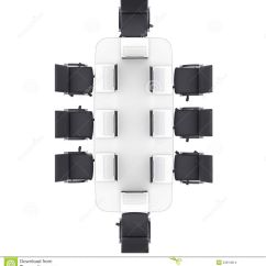 Desk Chair Plan View How To Clean Resin Chairs Laptops Office Round Table Isolated Render White