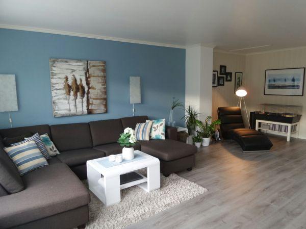 Livingroom. Blue Wall Grey Flooring Livingroom Ideas