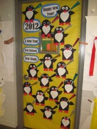 Happy New Year door decoration---the students wrote what ...